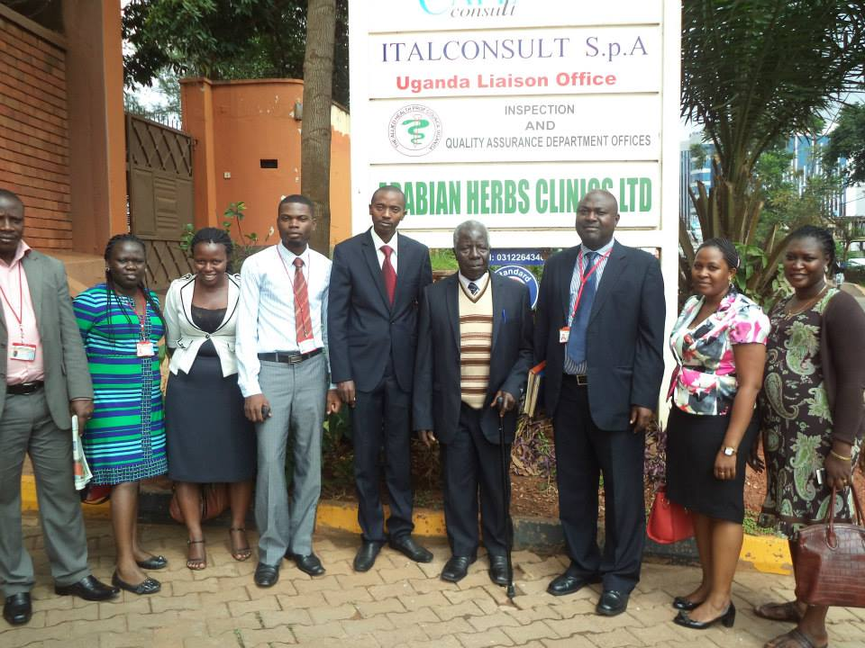 Fifth from the left- Rwanda Allied Health Professionals Council Registrar Mr Ndahirywe John Baptiste with AHPC staff